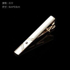 Новые зажимы для галстуков Мужская металлическая галстука бар Кристалл формальное платье рубашка свадебная церемония золотой галстук 59 W2