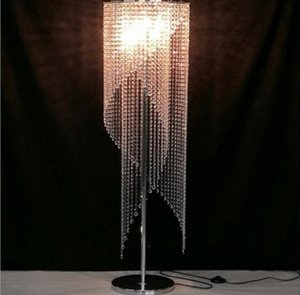 Nordic Crystal Floor Lamp Modern Retro Standing Bedroom Living Room Decor Curtain Lighting Fixtures Lights