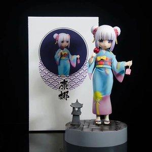 Miss Kobayashi's Dragon Maid Kanna Kanna Kamui Figura de acción 1/8 Escala Pintado Figura Kimono Versión PVC Figura Juguete Brinquedos Anime Y0407