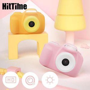 HitTime 20MP Cartoon Kids Camera 2'' HD 1080P Anti Shake Children Digital Po Toy 4x Zoom Dual Camcorders For Gift Cameras