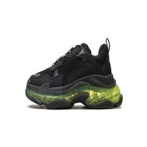 Fashion Triple s Crystal Bottoms Mens Womens Casual Shoes Paris 17fw Sneakers Vintage Dad Platform Women 2021 Flats Trainers