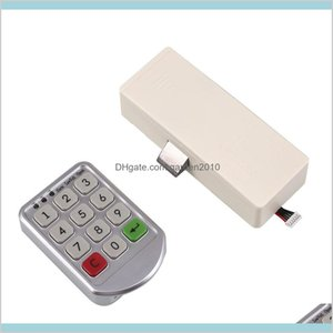 Furniture Accessories Home & Garden Wholesale- Digital Drawer Electronic Intelligent Password Keypad Number Door Code Locks Drop Deliv