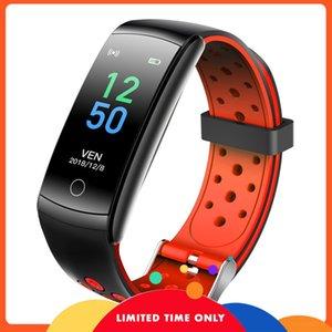 Ücretsiz Q8L Yeni Yükseltme Renk Ekran Bilezik Dinamik Kalp Hızı Kan Basıncı Oksijen İzleme Uyku Içme Su Çağrı