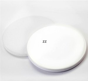 Sublimation Ceramic Coaster Round Mats for tumblers 9cm Blank White sublimated coasters DIY Thermal transfer Cup mat HWF10724