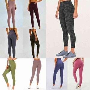 Высокая талия 32 016 25 78 женские спортивные штаны йога брюки гимнастики Леггинсы упругие фитнес Lu Lady общие полные колготки работают VFU O5xs #