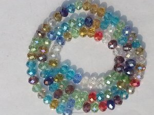 Crystal Beads Swarovski Multicolor AB Bead 1000PCS 4x6mm Loose White Gemstone Wholesale Ufphi