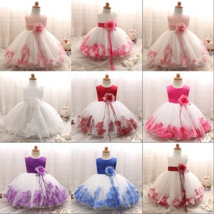 Baby Girls Flower Princess Dress 1 2 Years Old Birthday Party Christening Gown Kids Children Bridesmaid Wedding Dress 3-10 Years 968 X2