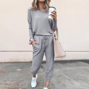 Two Piece Lounge Wear Spring Autumn Sweatsuit Ropa Deportiva Mujer Tracksuits Women Sets Ensemble Sport Femme Gray Pink Outfit Women's