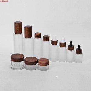 1oz 2oz 3oz 4oz 5oz 6oz CBD glass jar containers bamboo cream frosted with lid free sample Balm jarshigh quatity