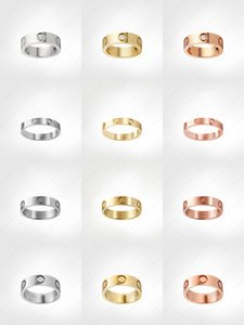 love screw ring mens rings classicdesigner jewelry women Titanium steel Alloy Gold-Plated Gold Silver Rose Never fade Not allergic -