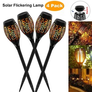 Solar Torch Lights Solar Dancing Flame Torches Light Outdoor Waterproof Landscape Decoration Lamps for Patio Garden Path Yard
