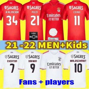 Игроки S.L. Бенфика футбол для футбола 21/22 Seerovic Darwin Waldschmidt Pizzi футбол трикотаж 2020 2021 2022 Rafa Chiquinho Gabriel Switch Men Kits Kits футболка