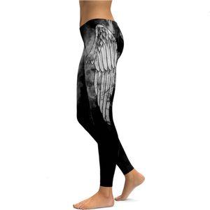 Capris & Women's Pants bt selling wings printing thin pencil elastic Leggings kdk1896