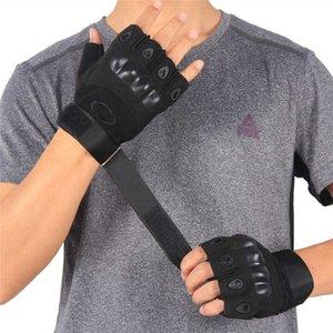 Oji Tactical Halffered Перчатки камуфляж езда на открытом воздухе альпинизма AntiSkid антирезая рука Открыть прямые кожаные перчатки