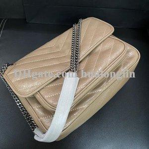 High quality Genuine leather women handbag shoulder bag chain cross body messenger 22cm 28cm
