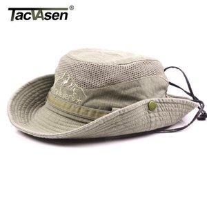 Tacvasen Men Tactical Hats Caps Sun Booonie Hat Летняя защита от солнца Защитная крышка Мужской Сафари Армия Армия Охота Шляпы Регулируемые