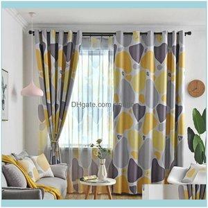 Занавес DRAPES DECO EL STARY Home Gardennordic стиль сердца камень напечатанные ткани шторы спальня гостиная оконная обработка Простое t