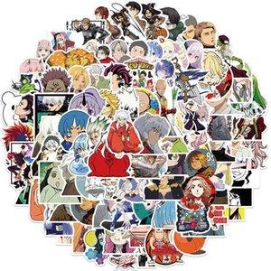 mixto Pegatinas de Anime para niños, calcomanías de Demon Slayer Attack on Titan, equipaje DIY, ordenador portátil, monopatín, teléfono, Car