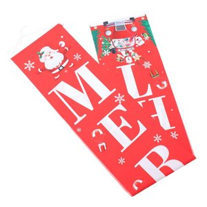 Curtain & Drapes 1 Pair Of Christmas Couplet Decor Door Banner Decorative Party