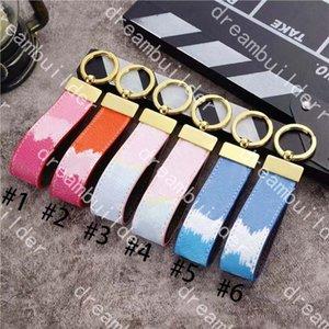 Luxury fashion Designer straps Handmade PU Leather Car Keychain Women Bag Charm Pendant Accessories Anti-lost
