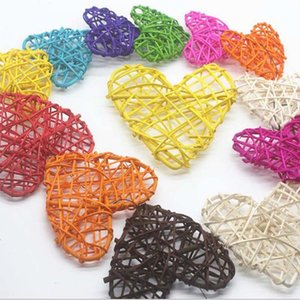 Rattan ball heart vine confetti Scatter for Gift box Craft Birthday Wedding Party table centerpieces favor Decoration DIY
