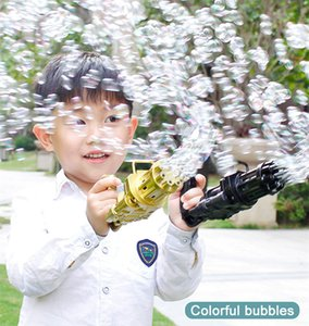 Kids Gatling Bubble Gun Toys Summer Automatic Soap Water Machine For Children Toddlers Indoor Outdoor Wedding