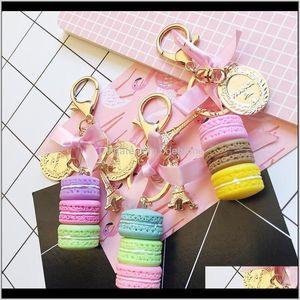 France Effiel Tower Keychains Woman Arons Cake On Bag Purse Handbag Charms Car Keychain With Gift Box Pknes Nnr5C