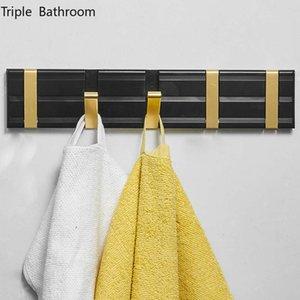 Towel Racks Light Luxury Hidden Rack Hook Space Aluminum Restroom Organizer Kitchen Storage Holder Living Room Porch Up