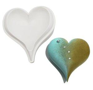 Venta al por mayor 3D Diamond Love Shape Forma de corazón Moldes de silicona Moldes para hornear esponja de gasa Mousse Pastel de Pastel de Pastel de Pastel GWWE5713