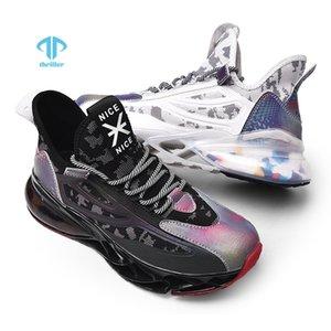 Триллеры мужчины весенние лезвие кроссовки летающие тканые сетки дышащие легкие повседневные спортивные шнурные кроссовки