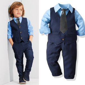 2021 Fashion Easter Childrens Suits Baby Suit Kids Baby Boys Business Suit Formal Set For Boys For Formal Party 1-8 Age