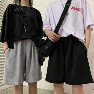 Summer Harajuku Elastic Womens Shorts High Waist Casual Loose Wide Leg Couples Students Unisex Fashion All Match Ulzzang Chic