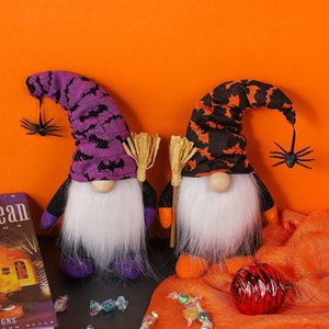 Party Supplies Halloween Home Decor Gnomes Doll with Spider Plush Ornaments Table Decorations Gifts w-00770