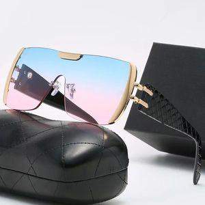 Модные солнцезащитные очки для женщин Мужчины Классические старинные солнцезащитные сети Большое цельные очки Очки очки против блики Литературный элегантный океан градиентные линты