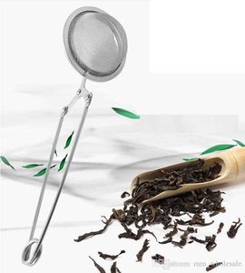 304 الفولاذ المقاوم للصدأ المجال شبكة الشاي مصفاة القهوة عشبة مرشح التوابل الناشر الشاي الكرة مع مقبض الشاي infuser 50 قطع