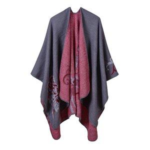 Luxury Brand scarves shawls Autumn Winter Warm Thick Pashmina New Fashion Lady Imitation Cashmere Shawls & Wraps Flowers