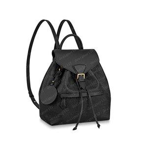 2021 حقيبة الظهر مصغرة حقيبة يد المرأة حقيبة يد شولر حقيبة الصليب الجسم محفظة pochette جلد بني تنقش الأسود 45205 27.5x33x14 سنتيمتر 17x20x10.5cm # MOB-01
