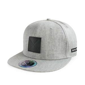 hathatGrey Flexible Fitted Cap Rubber Patch Custom Hologram Sticker Snapback Hat