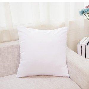 45 * 45cmwhite Бросок подушки Сублимационные квадратные наволочки DIY наволочка для дивана для теплообмена