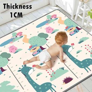 1CM XPE Environmentally Friendly Thick Crawling Folding Carpet Play for Children's Safety Mat Kid Rug Playmat 210401