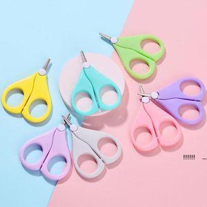 Детские ножницы для ногтей короткие дети ногтей уборщики уборщики безопасности безопасности нержавеющая сталь круглая головка ножницы fwc7238