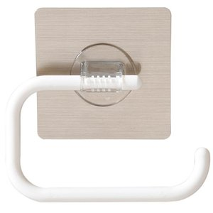Toilet Paper Holder Wall-Mounted Punch Free For Bathroom Kitchen Hanging Towel Plastic Wrap And Daily Supplies Storage Boxes & Bins