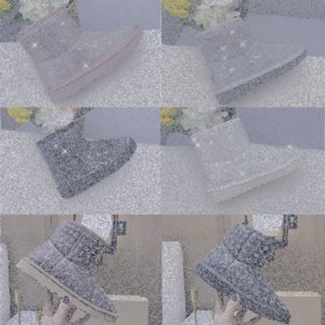 2021 Fur Half transparent Snow Boots Waterproof Women Boots Classic Clear Mini TPU Winter Boots Designers Ankle Black green Shoes SIZE 80iM#