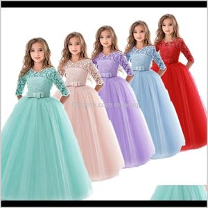 Girls Princess Lace Kids Flower Embroidery Dress Vintage Children Dresses For Wedding Party Formal Gown 6 14T Fykyy Ruqir