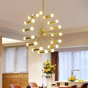 Pendant Lamps Nordic Living Room Chandelier Modern Minimalist Light Luxury Atmosphere Home Bedroom Restaurant Lighting Creative American