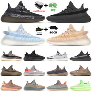 with box kanye running shoes for men women MX Rock Mono Clay Ice Ash Blue Pearl Black Static Zebra Cinder mens trainers outdoor sport sneakers