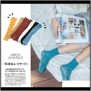 Hosiery Hui Guan Na moda Verão Sexy Respirável Lace Hollow Out Meias Meias Macias Fino Distintivo Fashion ZQW1H Slzra