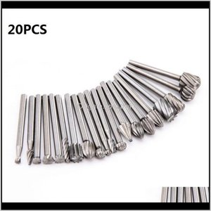 Tool Parts Home & Garden Drop Delivery 2021 20Pcs Set M Drill Bit Nozzles For Dremel Attachments Hss Stainless Steel Wood Carving Tools Set W