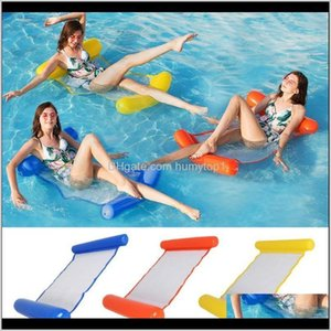 Camp Furniture Water Hammock Recliner Inflatable Floating Mattress Sea Swimming Ring Pool Party Toy Lounge Bed For Aymrx 1Hxed