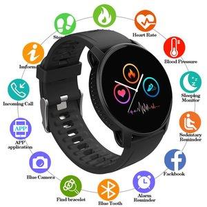Top Digital Watch Men Bracelet Women Sports Mode Sleep Time Monitor Heart Rate Full Touch Screen Waterproof Gift Wristwatches